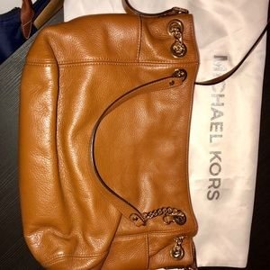 Michael Kors medium brown leather purse